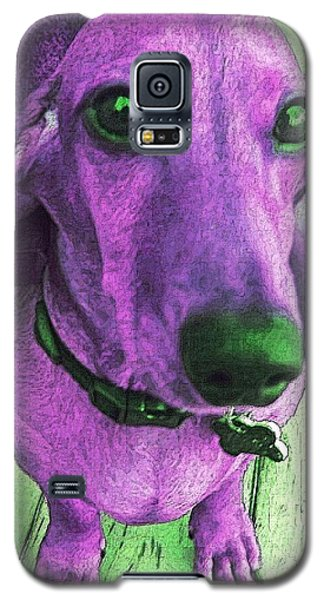 Dachshund - Purple People Greeter Galaxy S5 Case