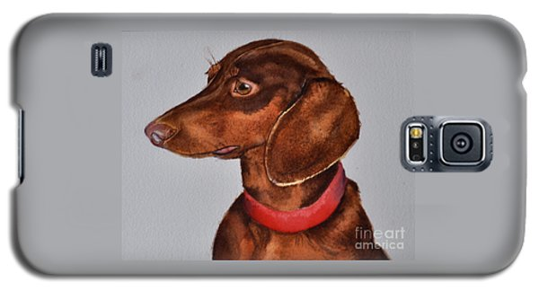 Dachshund Watercolor Painting Galaxy S5 Case