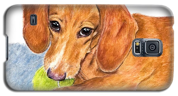 Dachshund With Tennis Ball Galaxy S5 Case