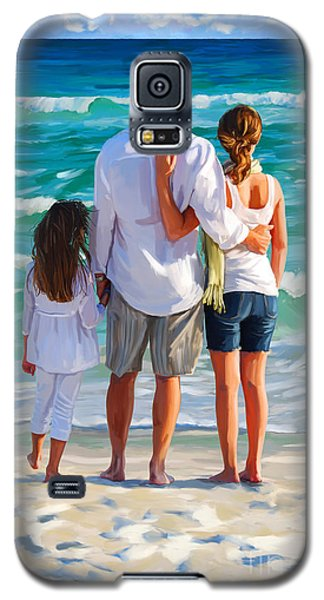 Dad And His Girls Galaxy S5 Case