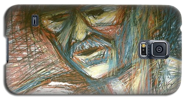 Galaxy S5 Case featuring the drawing Dad by Carrie Maurer