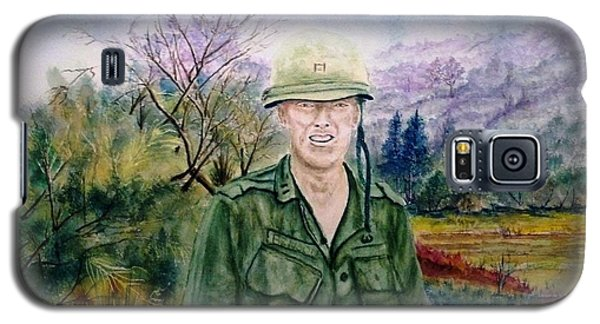Galaxy S5 Case featuring the painting Dad Vietnam 1966 by Richard Benson