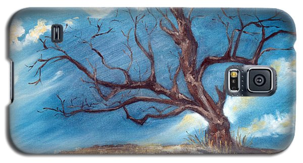 Galaxy S5 Case featuring the painting Daddy's Tree by Meaghan Troup