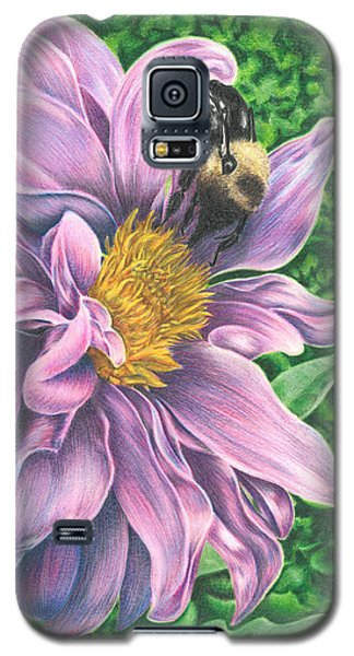 Galaxy S5 Case featuring the drawing Dahlia by Troy Levesque