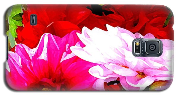 Galaxy S5 Case featuring the photograph Dahlias  by Lehua Pekelo-Stearns