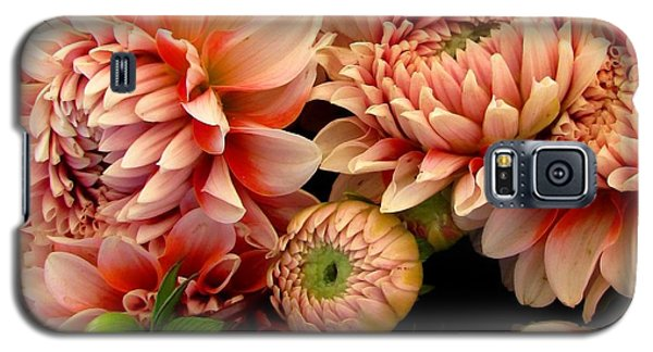 Galaxy S5 Case featuring the photograph Dahlias Opening by Brenda Pressnall