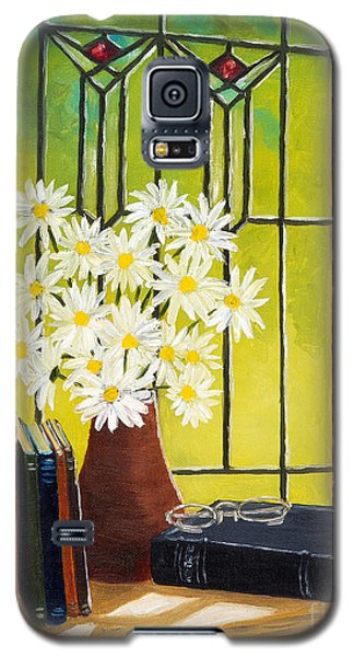 Daisies And Stained Glass Window Galaxy S5 Case