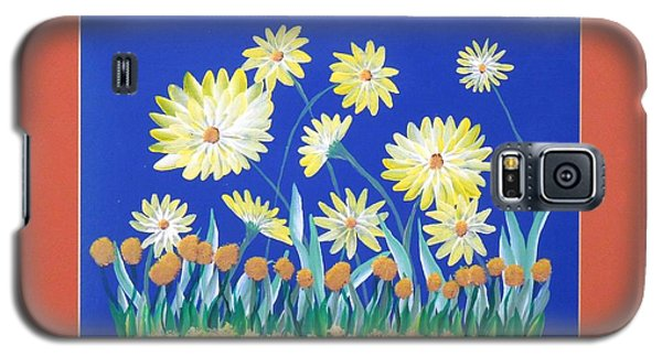 Galaxy S5 Case featuring the painting Daisies by Ron Davidson
