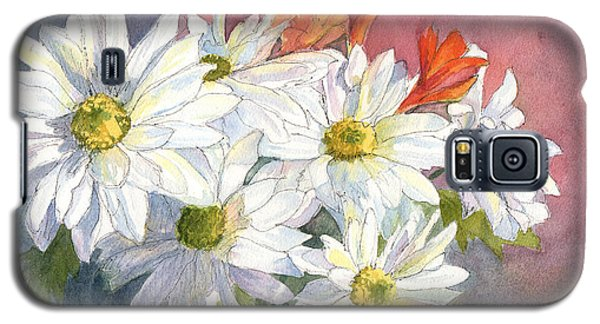 Galaxy S5 Case featuring the painting Daisies by Vikki Bouffard