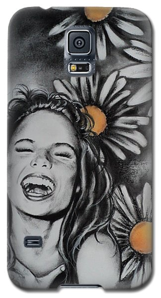 Galaxy S5 Case featuring the drawing Daisy by Carla Carson