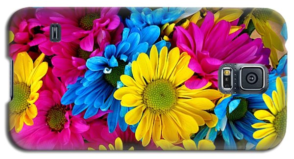 Galaxy S5 Case featuring the photograph Daisys Flowers Bloom Colorful Petals Nature by Paul Fearn