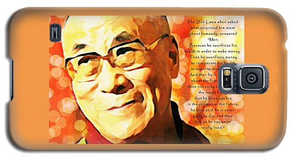Dali Lama And Man Galaxy S5 Case