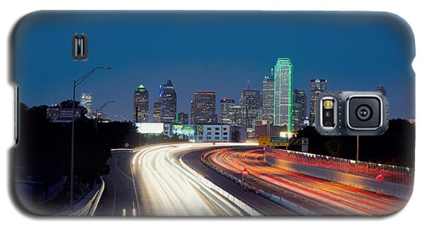Dallas Night Skyline Light Trails Galaxy S5 Case