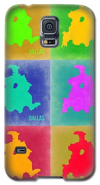 Dallas Pop Art Map 3 Galaxy S5 Case by Naxart Studio