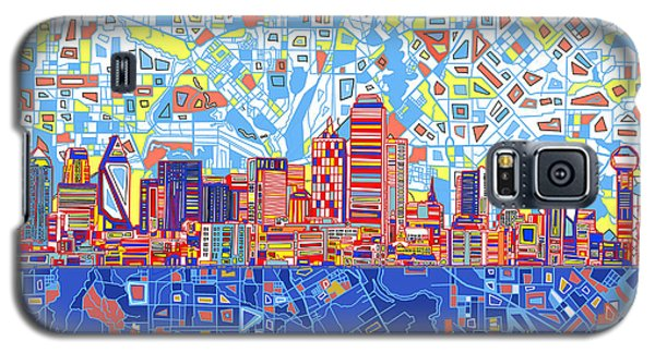 Dallas Skyline Abstract 5 Galaxy S5 Case