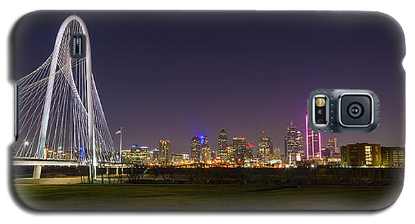 Dallas Skyline And Margaret Hunt Hill Bridge Galaxy S5 Case