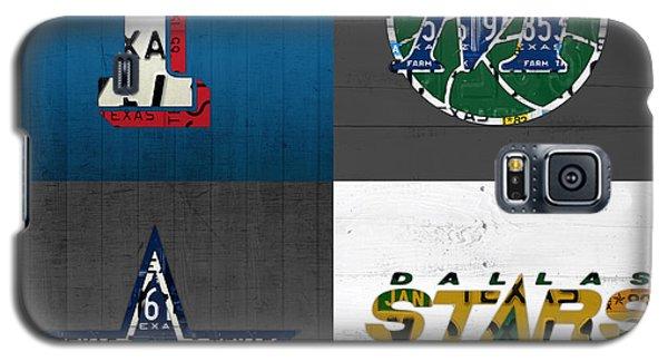 Dallas Sports Fan Recycled Vintage Texas License Plate Art Rangers Mavericks Cowboys Stars Galaxy S5 Case