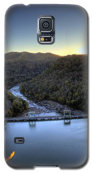 Galaxy S5 Case featuring the photograph Dam Across The River by Jonny D