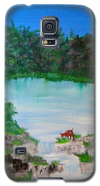 Galaxy S5 Case featuring the painting Damn I'm Thirsty by Denise Tomasura