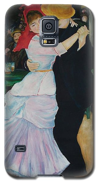 Galaxy S5 Case featuring the painting Dance At Bougival Renoir by Eric  Schiabor