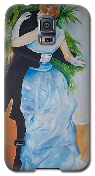 Galaxy S5 Case featuring the painting Dance In The City  by Eric  Schiabor