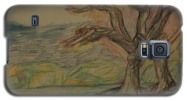 Galaxy S5 Case featuring the drawing Dance In The Wind by Christy Saunders Church