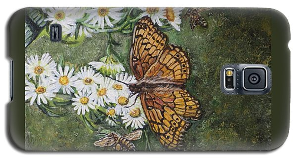 Galaxy S5 Case featuring the painting Dance With The Daisies by Kimberlee Baxter