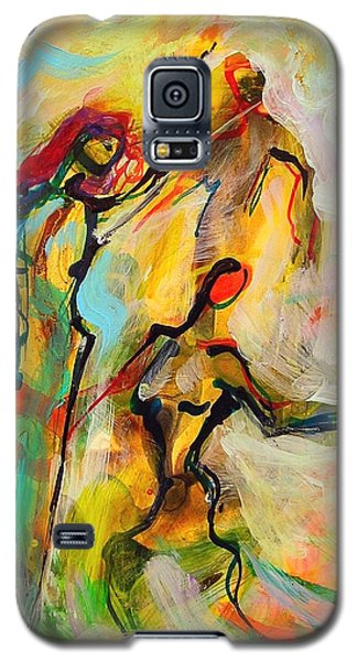 Galaxy S5 Case featuring the painting Dancers by Mary Schiros