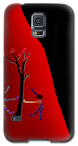 Galaxy S5 Case featuring the digital art Dancing Around A Tree by Asok Mukhopadhyay
