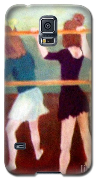 Galaxy S5 Case featuring the painting Dancing Class by Mary Lynne Powers