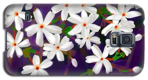 Galaxy S5 Case featuring the digital art Dancing Coral Jasmines by Latha Gokuldas Panicker