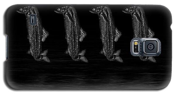 Dancing Fish At Night 3 Galaxy S5 Case by Evgeniy Lankin