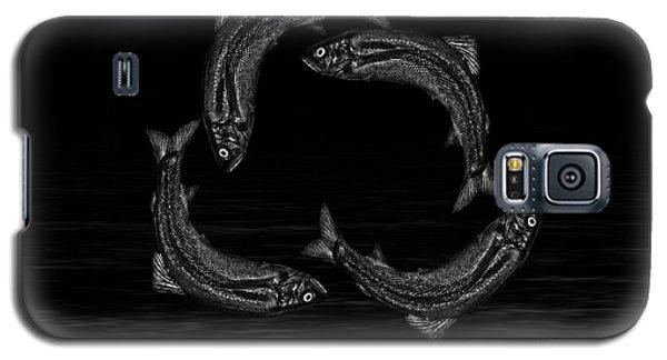 Dancing Fish At Night 7 Galaxy S5 Case by Evgeniy Lankin