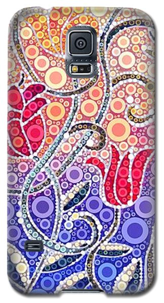 Dancing Flowers At Sunrise Galaxy S5 Case by Linda Bailey