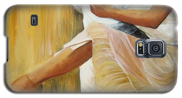 Galaxy S5 Case featuring the painting Dancing Legs by Sheri  Chakamian