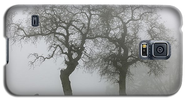 Galaxy S5 Case featuring the photograph Dancing Oaks In Fog - Central California by Ram Vasudev