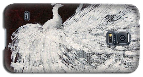 Dancing Peacock Burgundy Galaxy S5 Case