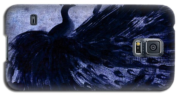 Dancing Peacock Navy Galaxy S5 Case by Anita Lewis
