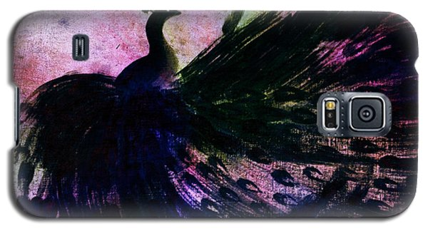 Dancing Peacock Rainbow Galaxy S5 Case by Anita Lewis