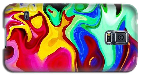 Galaxy S5 Case featuring the digital art Dancing Spirits  by Annie Zeno