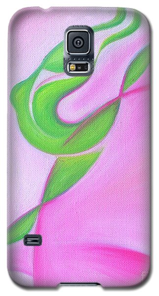 Galaxy S5 Case featuring the painting Dancing Sprite In Pink And Green by Tiffany Davis-Rustam