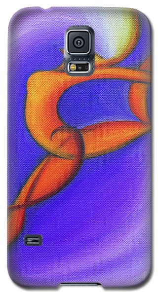 Galaxy S5 Case featuring the painting Dancing Sprite In Purple And Orange by Tiffany Davis-Rustam