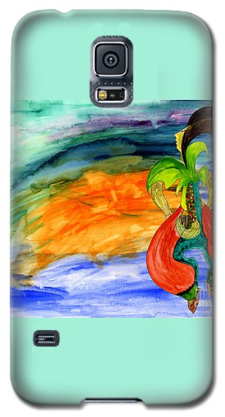 Galaxy S5 Case featuring the painting Dancing Tree Of Life by Mukta Gupta