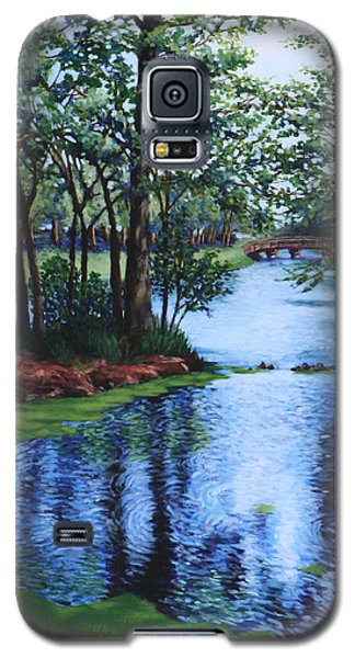 Galaxy S5 Case featuring the painting Dancing Waters by Penny Birch-Williams