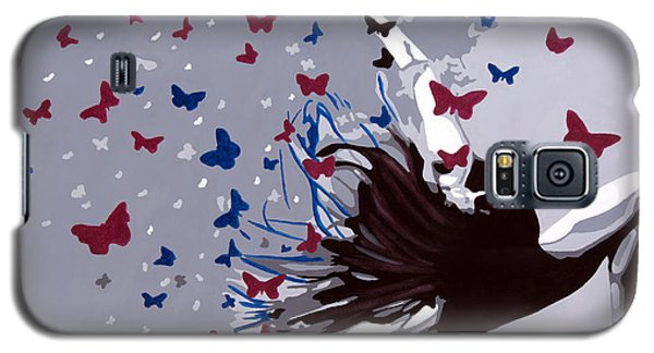 Galaxy S5 Case featuring the painting Dancing With Butterflies by Denise Deiloh