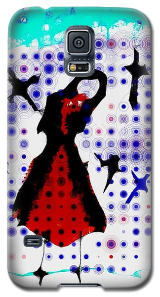 Galaxy S5 Case featuring the photograph Dancing With The Birds by Jessica Shelton
