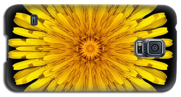 Galaxy S5 Case featuring the photograph Dandelion Flower Mandala by David J Bookbinder