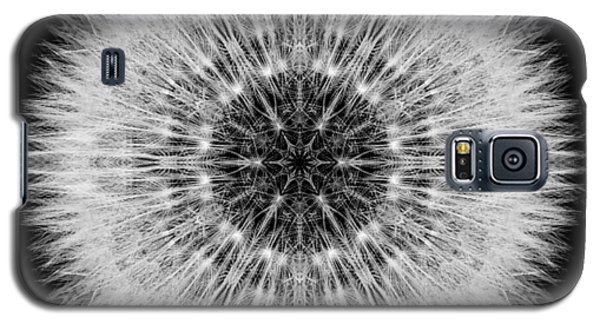 Galaxy S5 Case featuring the photograph Dandelion Head Flower Mandala by David J Bookbinder