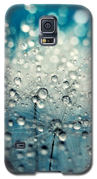 Dandy Blue And Drops Galaxy S5 Case