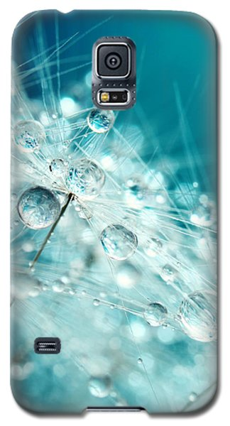 Dandy Starburst In Blue Galaxy S5 Case